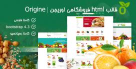 قالب Origine   قالب HTML فروشگاهی اوریجین
