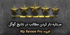افزونه وردپرس wp review pro | بهترین افزونه ستاره دار کردن مطالب