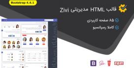 قالب Zivi | قالب HTML سایت مدیریتی زیوی